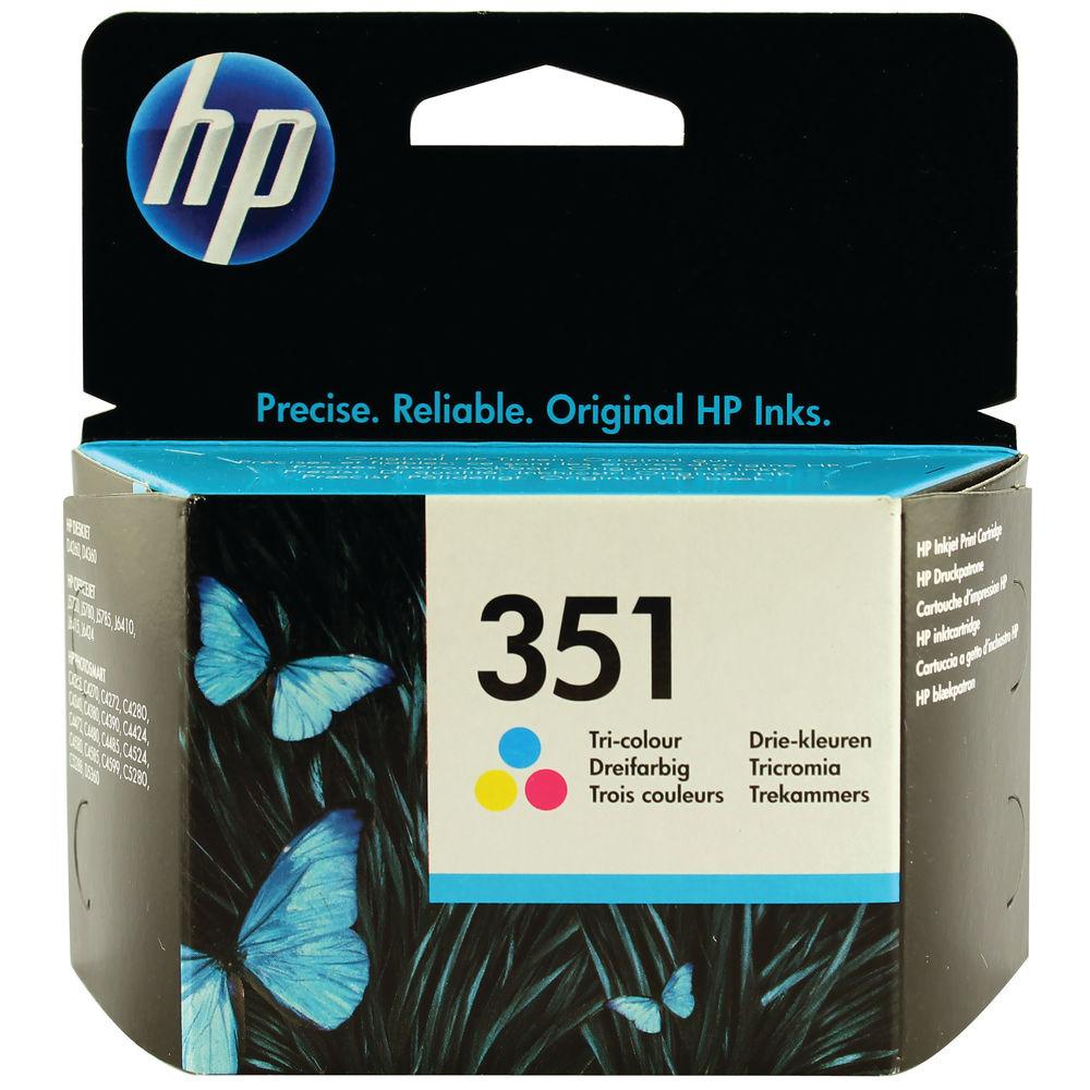 HP 351 Tri Colour Ink Cartridge CB337EE