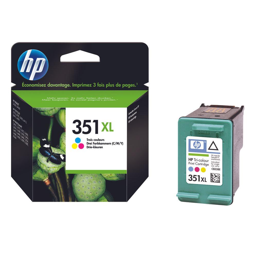 HP 351XL High Capacity Tri-Colour Ink Cartridge - CB338EE