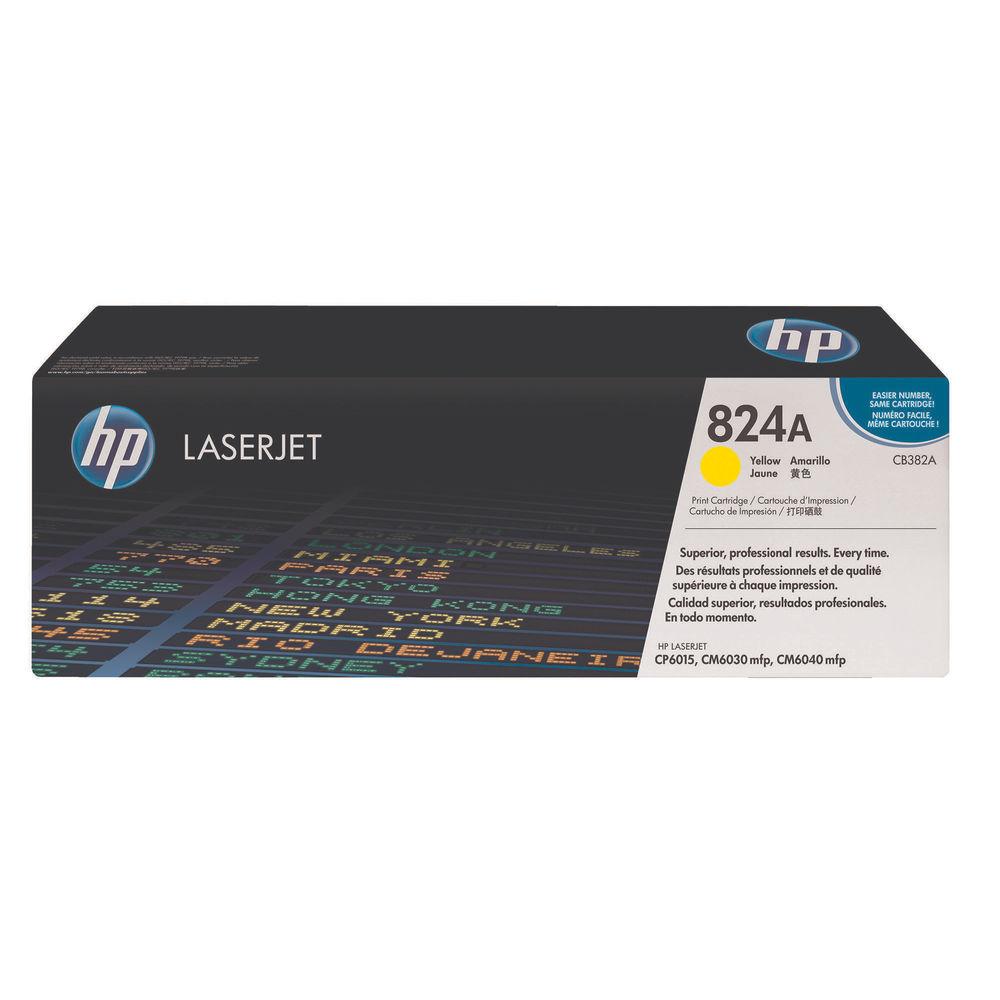 HP 824A Yellow Toner Cartridge - CB382A