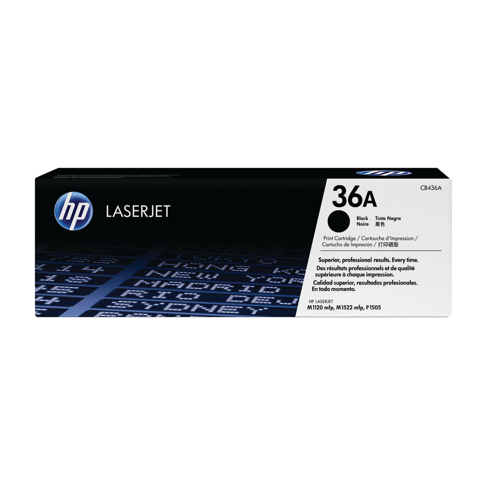 HP 36A Black Toner Twin Pack - CB436AD