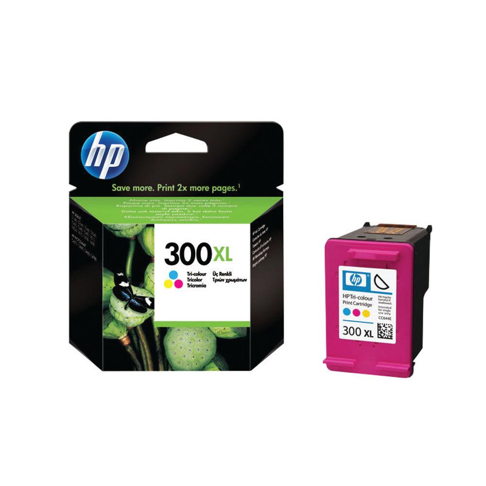 HP 300XL High Capacity Tri-Colour Ink Cartridge | CC644EE