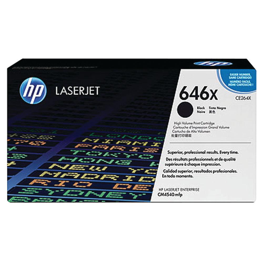 HP 646X High Capacity Black Toner Cartridge - CE264X
