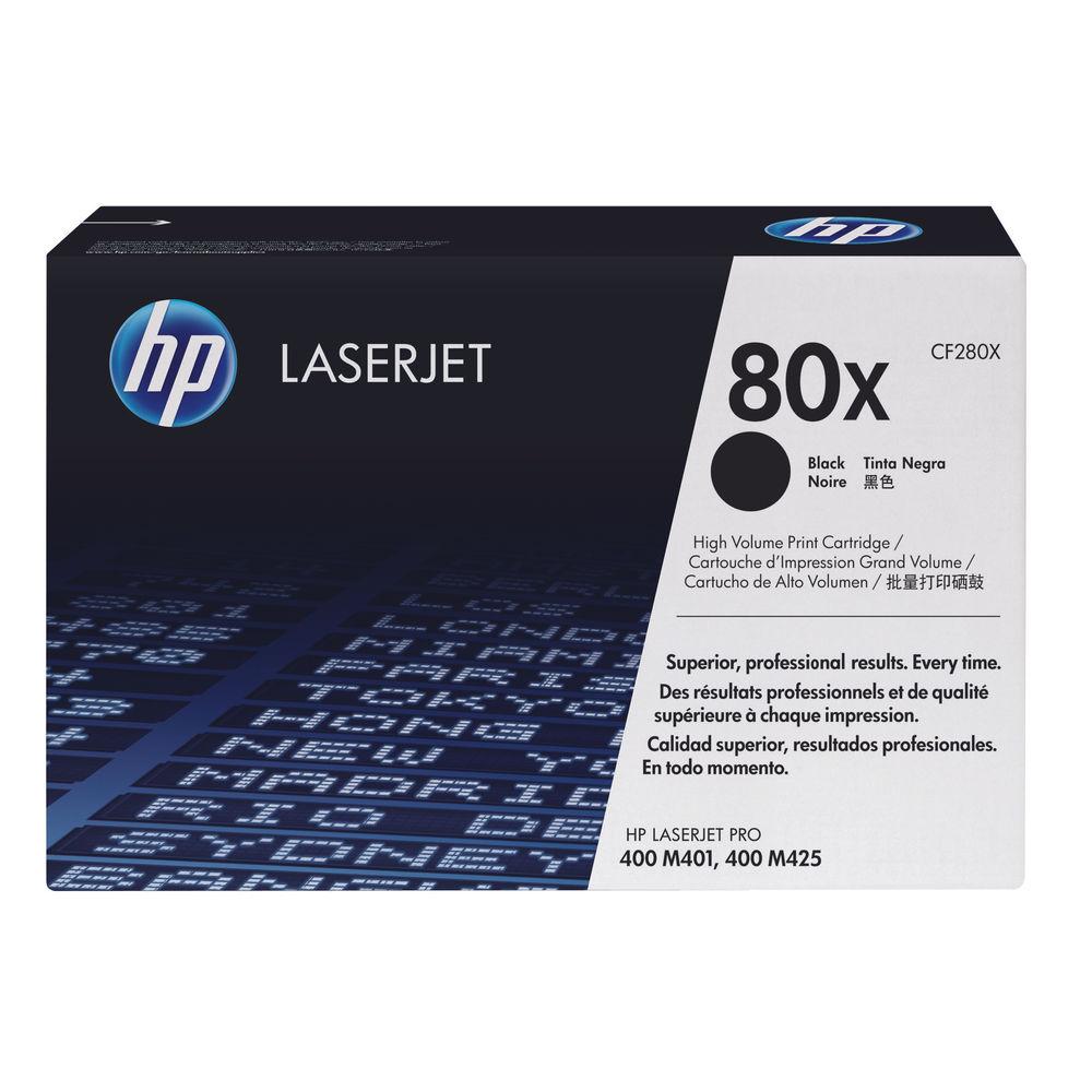HP 80X Black Toner Cartridge - High Capacity CF280X