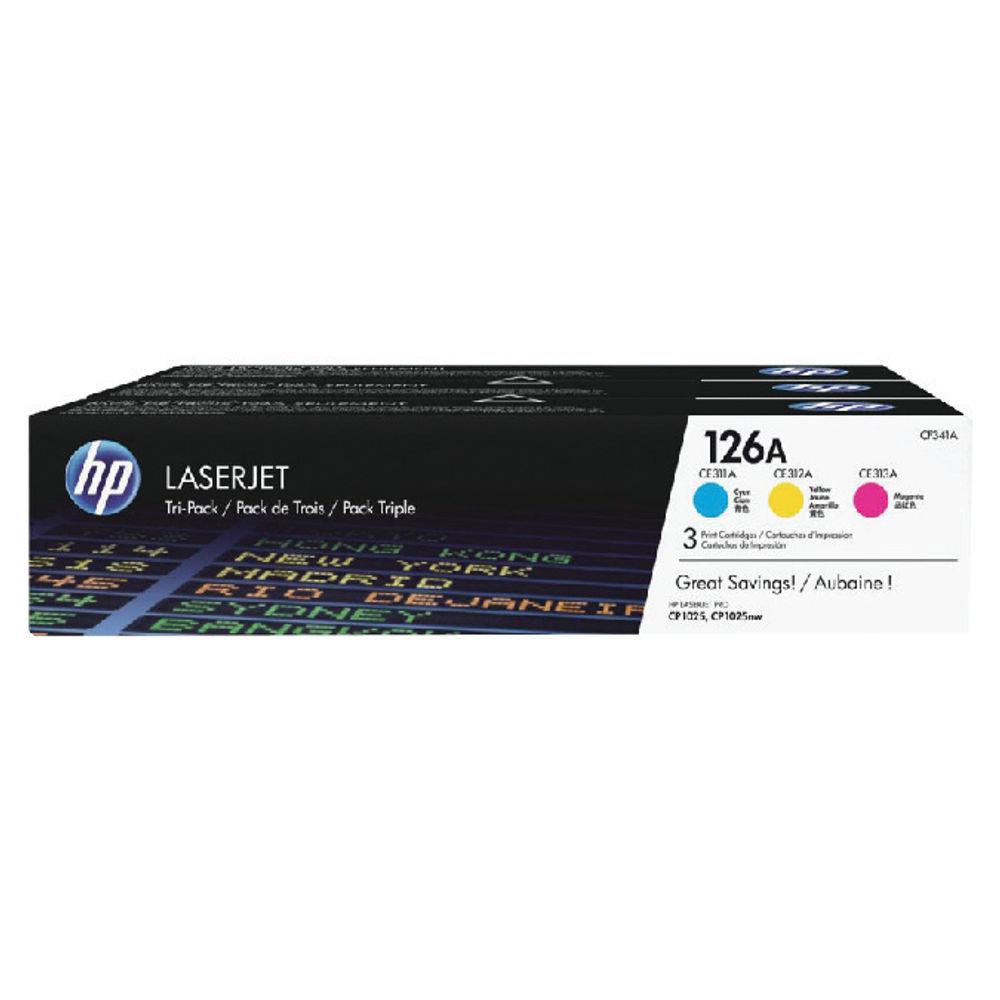 HP 126A Colour Laserjet Toner Tri Pack | CF341A