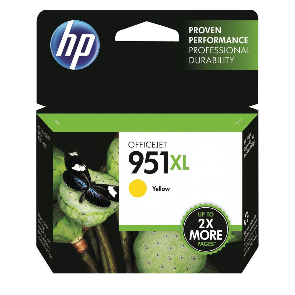 HP 951 XL Yellow Ink Cartridge - High Capacity CN048AE