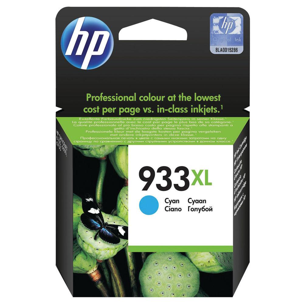 HP 933XL High Capacity Cyan Ink Cartridge   CN054AE