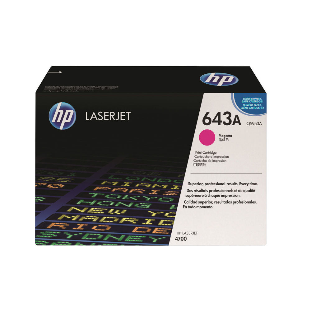 HP 643A Magenta Toner Cartridge - Q5953A
