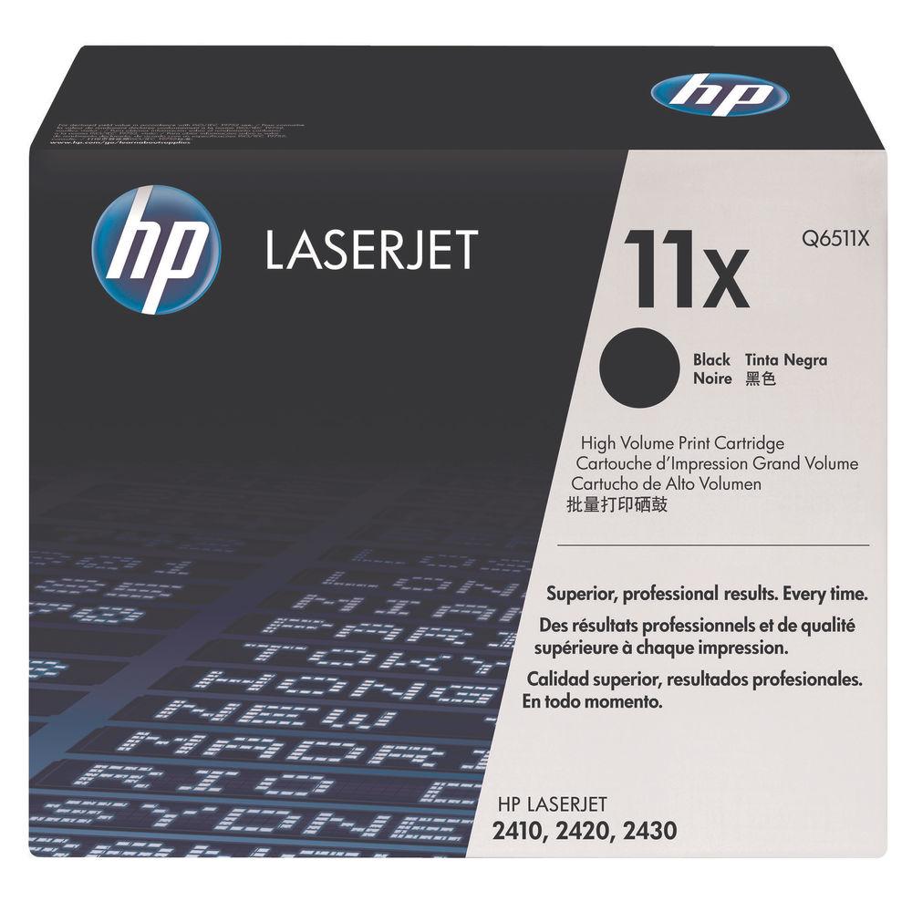 HP 11X Black High Yield Laserjet Toner Cartridge Q6511X