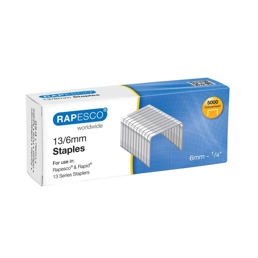 Rapesco 13/6mm Staples, Pack of 5000   S13060Z3