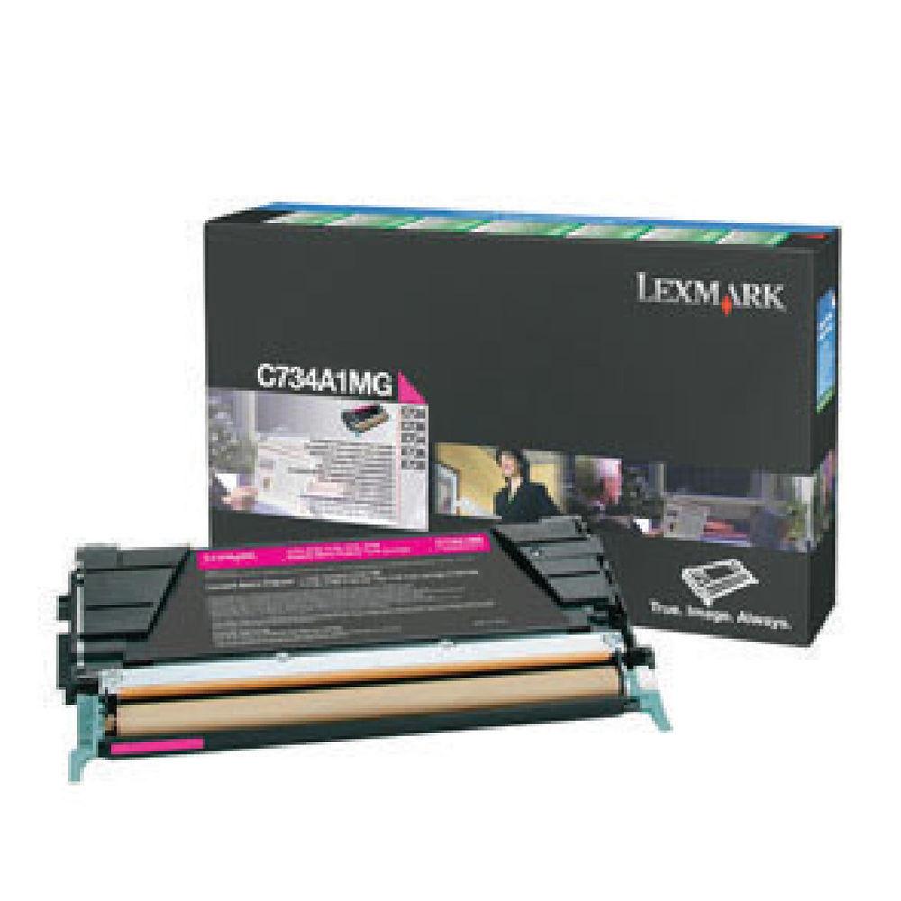 Lexmark Magenta Return Program Toner Cartridge C734A1MG