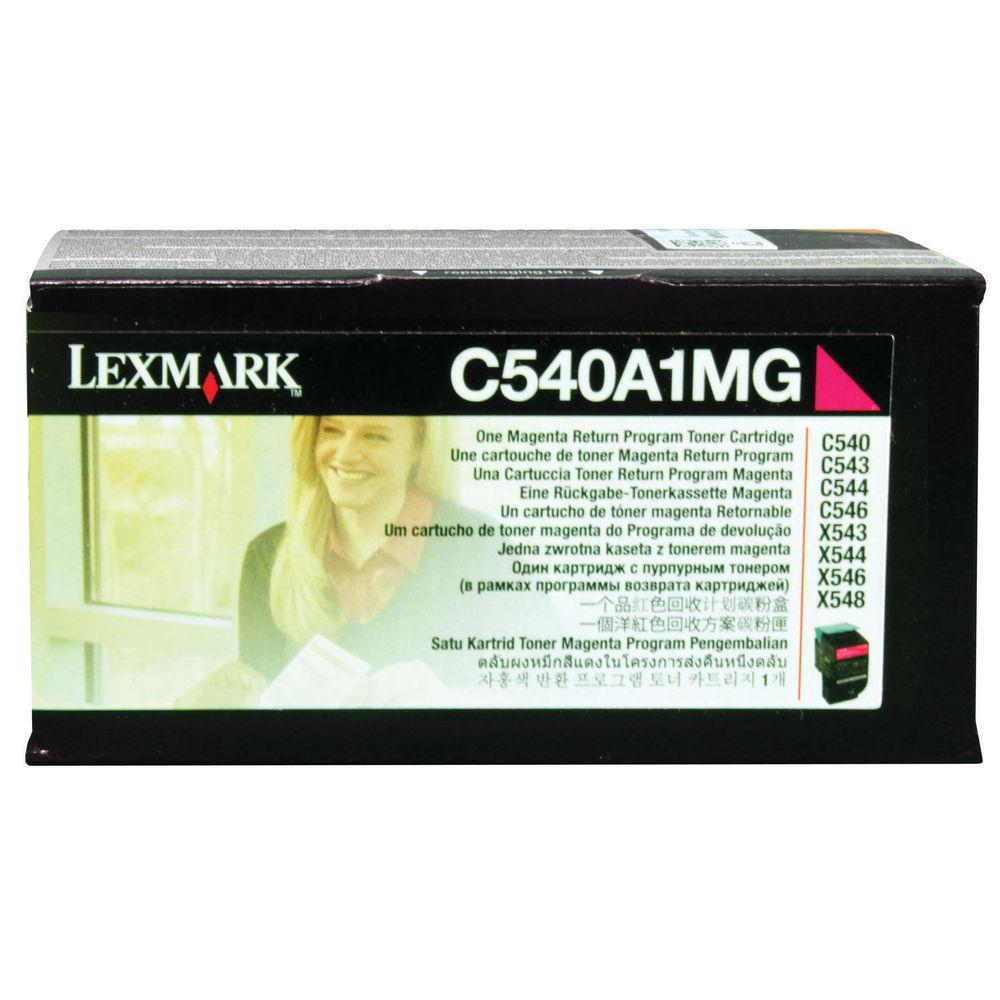 Lexmark C54X/X54X Magenta Toner Cartridge - 0C540A1MG
