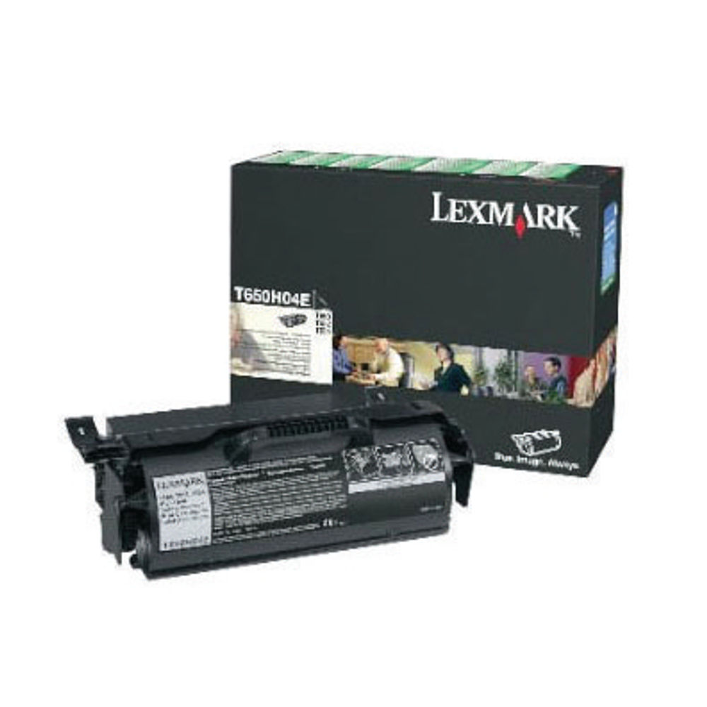Lexmark T650 Black Toner Cartridge - High Capacity 0T650H04E