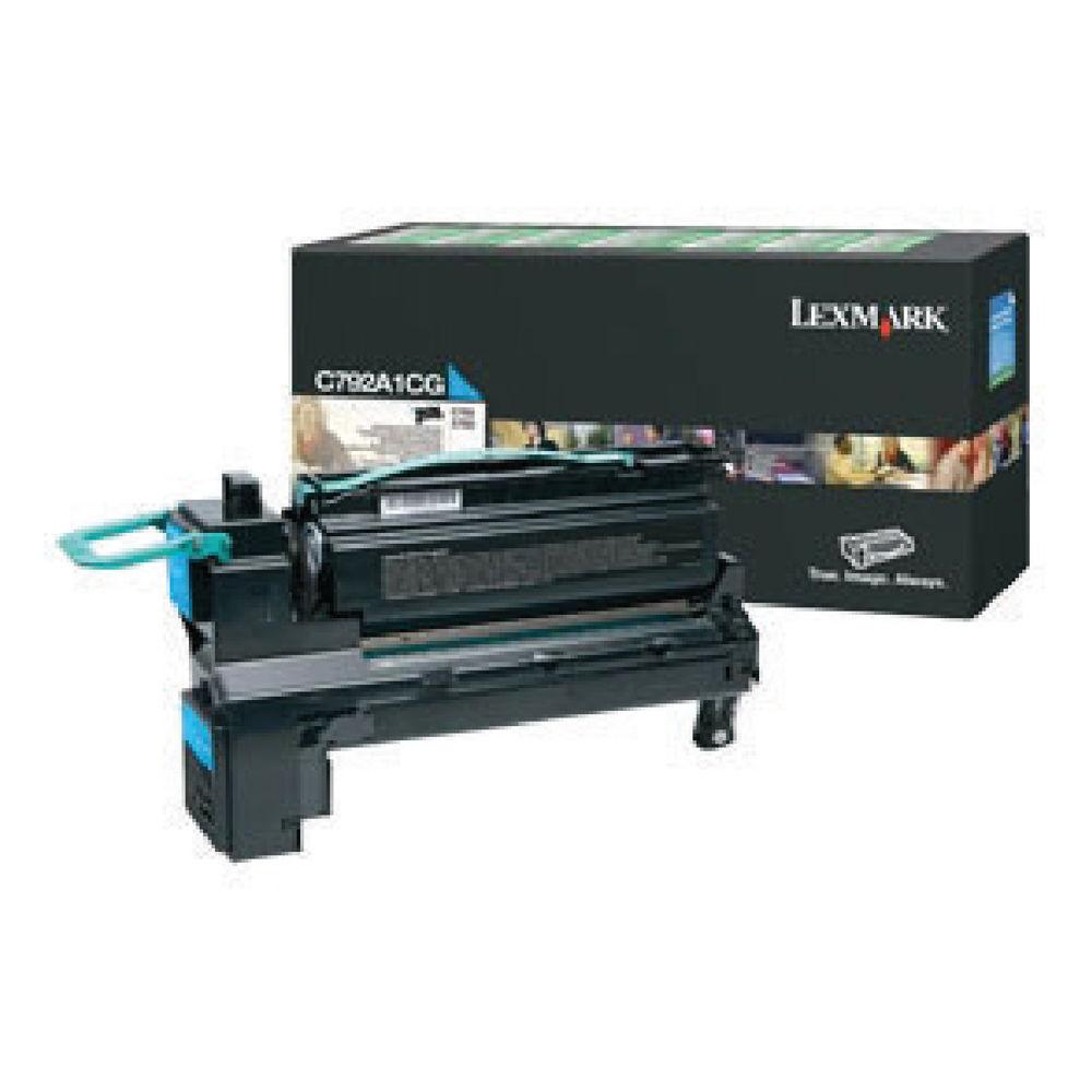 Lexmark C792 Cyan Return Program Toner Cartridge C792A1CG