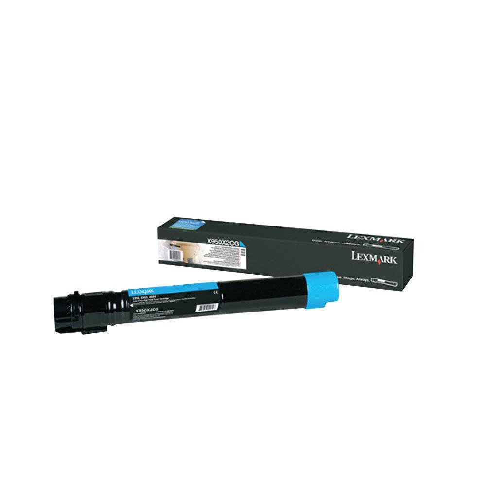 Lexmark X950 Cyan Extra High Yield Toner Cartridge X950X2CG