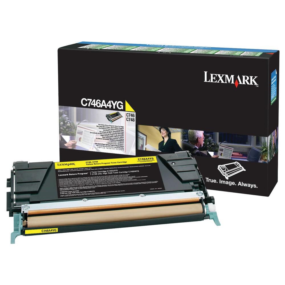 Lexmark C746 Yellow Return Program Toner Cartridge C746A1YG