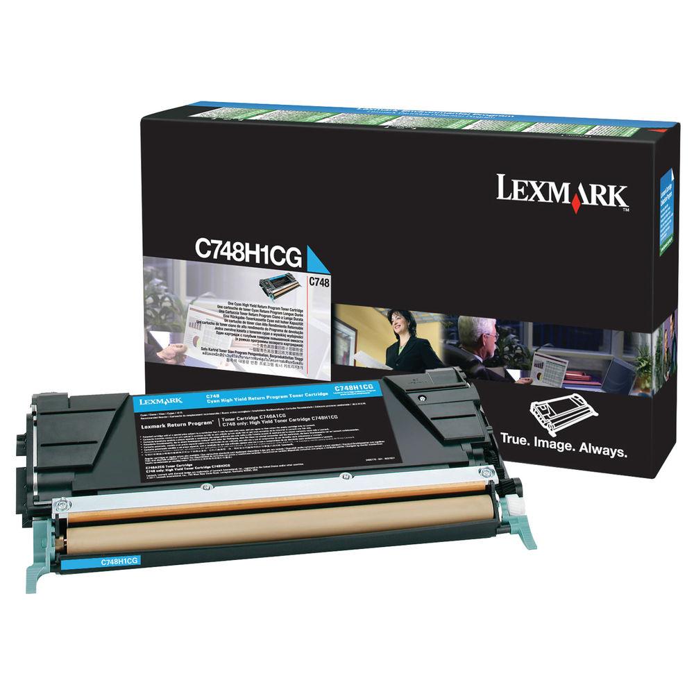 Lexmark C748 Cyan High Yield Return Program Toner C748H1CG