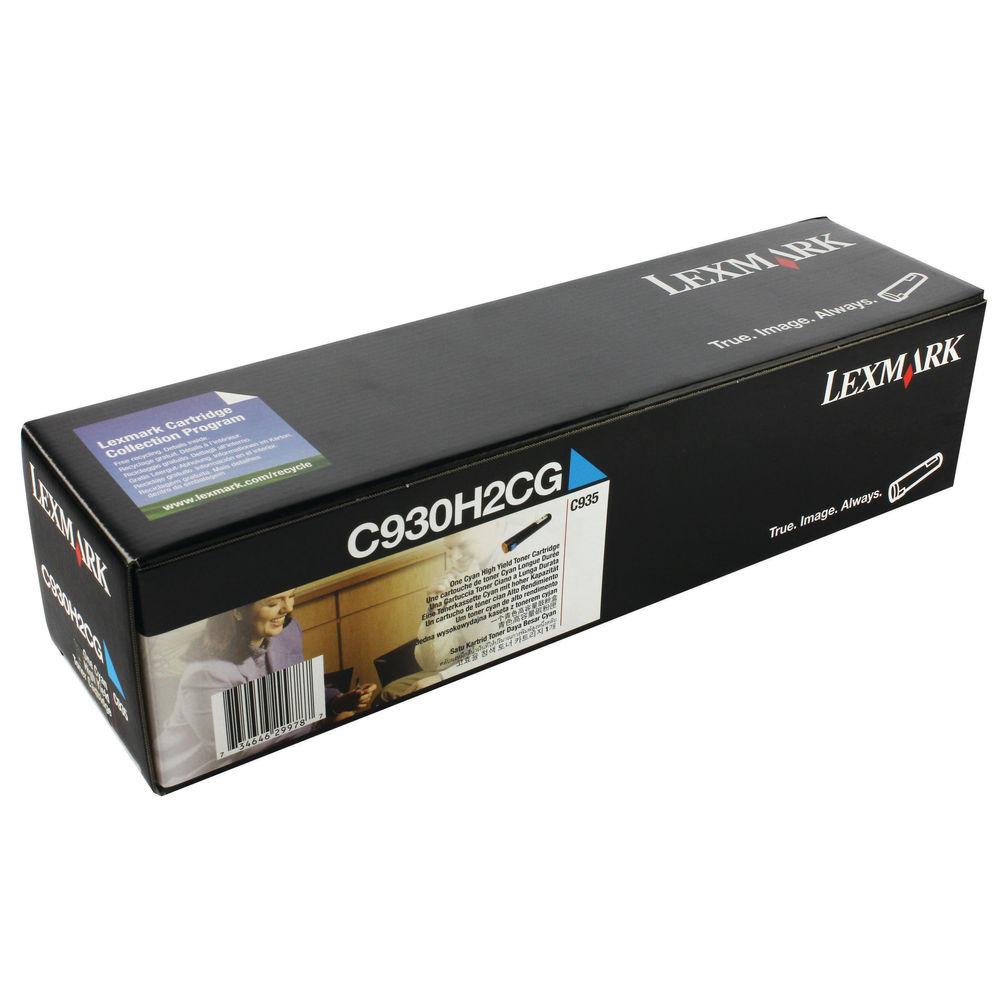 Lexmark C935 Cyan Toner Cartridge - High Capacity C930H2CG