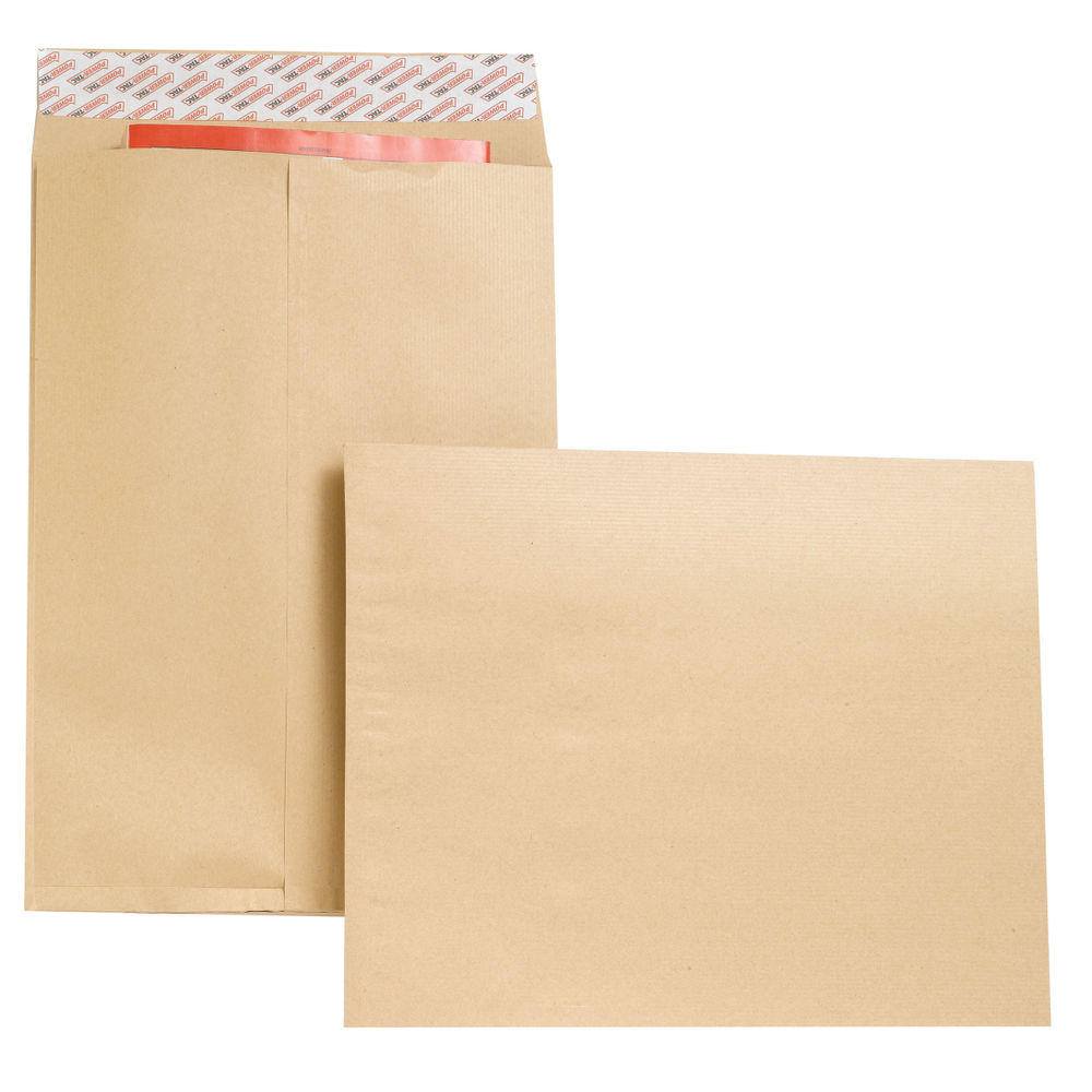 New Guardian Manilla Gusset Self Seal Envelopes 130gsm - Pack of 100 - B27326