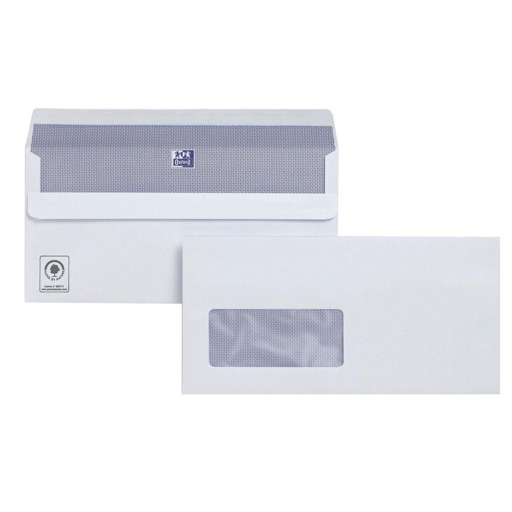 Plus Fabric Wallet Self Seal DL Window Envelopes 110gsm - Pack of 250 - C23370