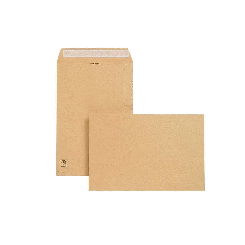 Basildon Bond 381 x 254mm Manilla Plain Pocket Envelopes, Pack of 125 - E23513
