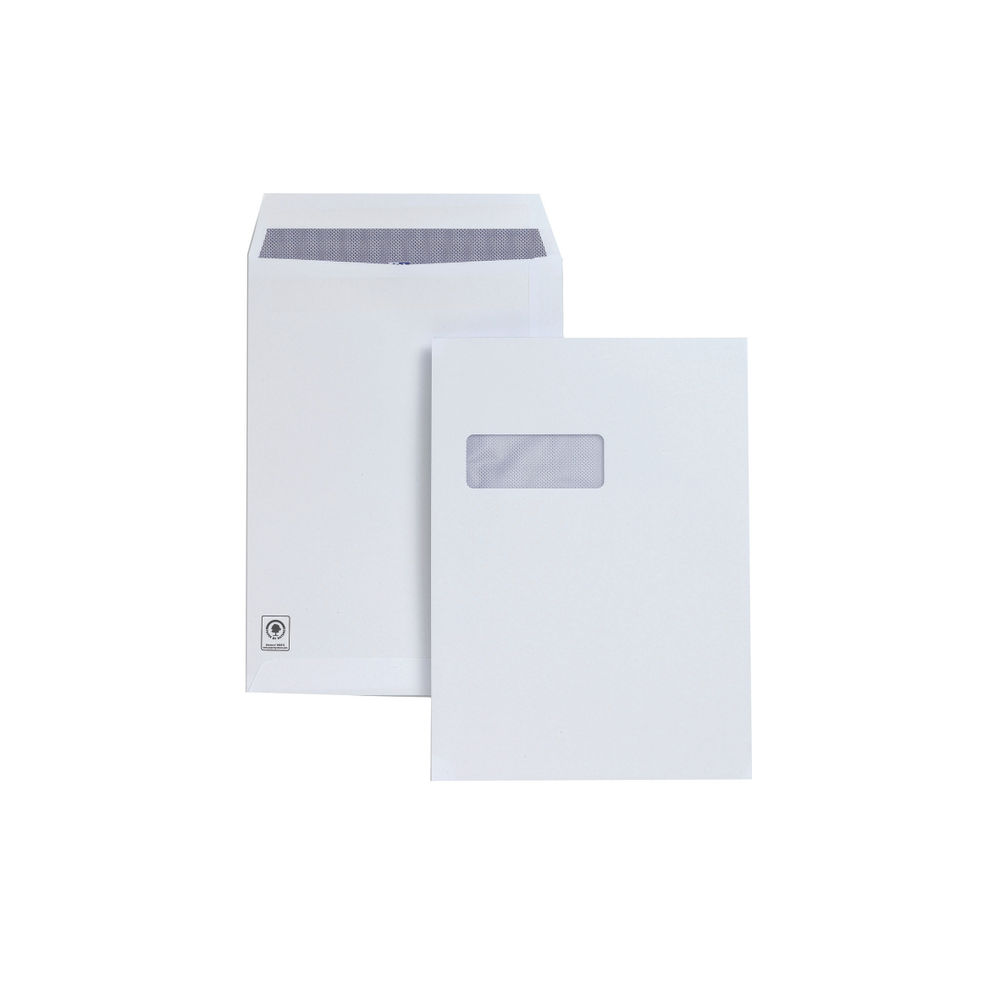 Plus Fabric White Self Seal C4 Pocket Envelopes 120gsm - Pk250 - H27070