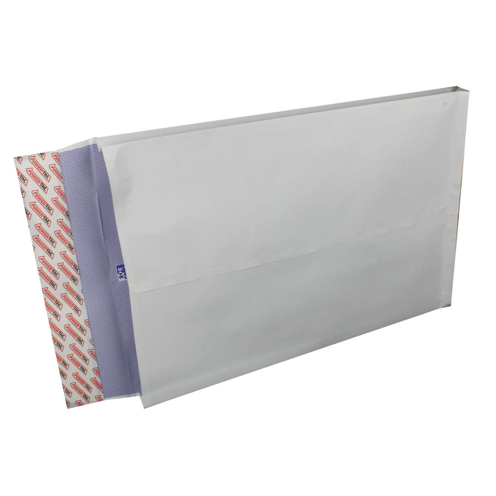 Plus Fabric Gusset Envelope 381x254x25mm Peel and Seal 120gsm White (Pack of 100) H28866