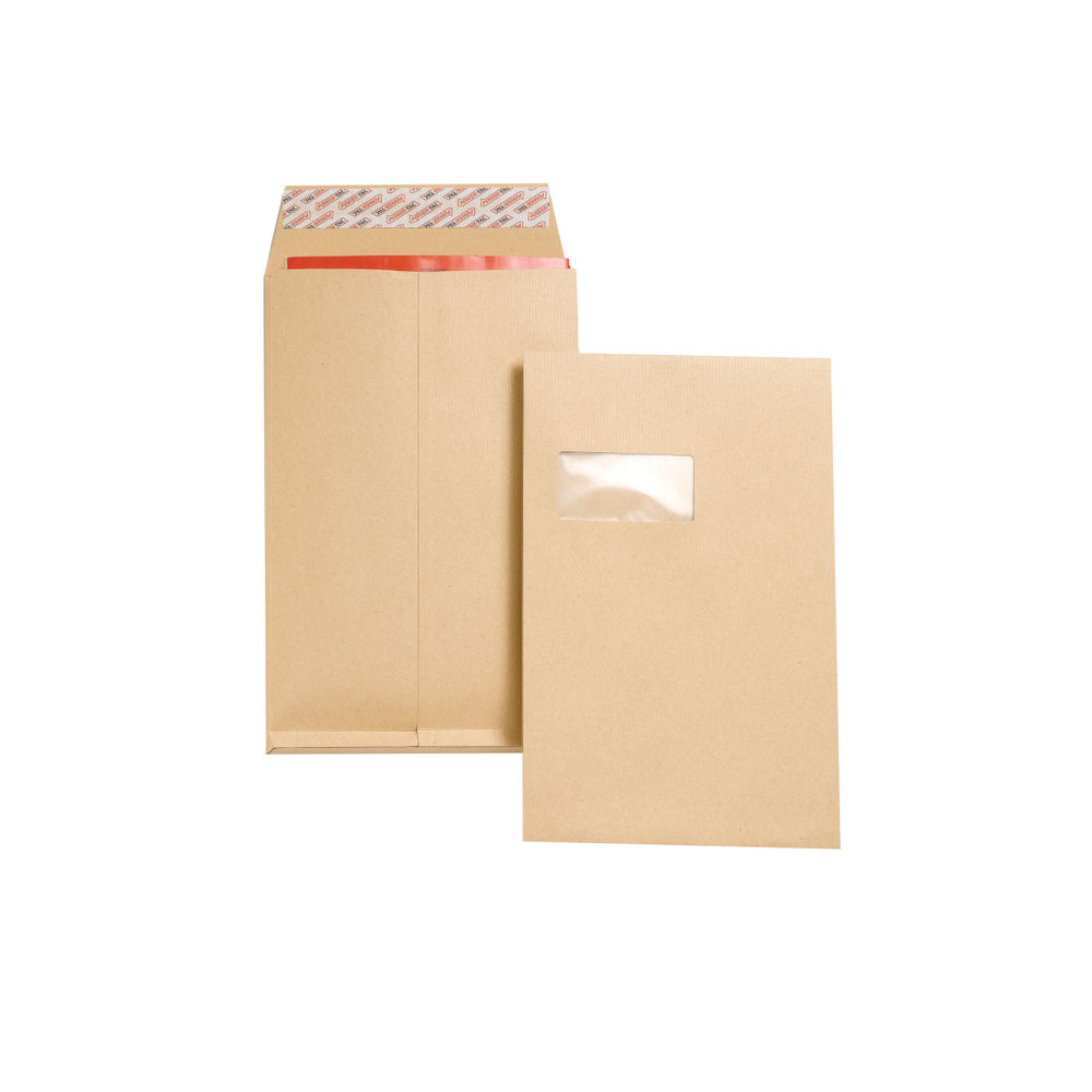 New Guardian C4 Manilla Window Pocket Envelopes, Pack of 100 - J27366