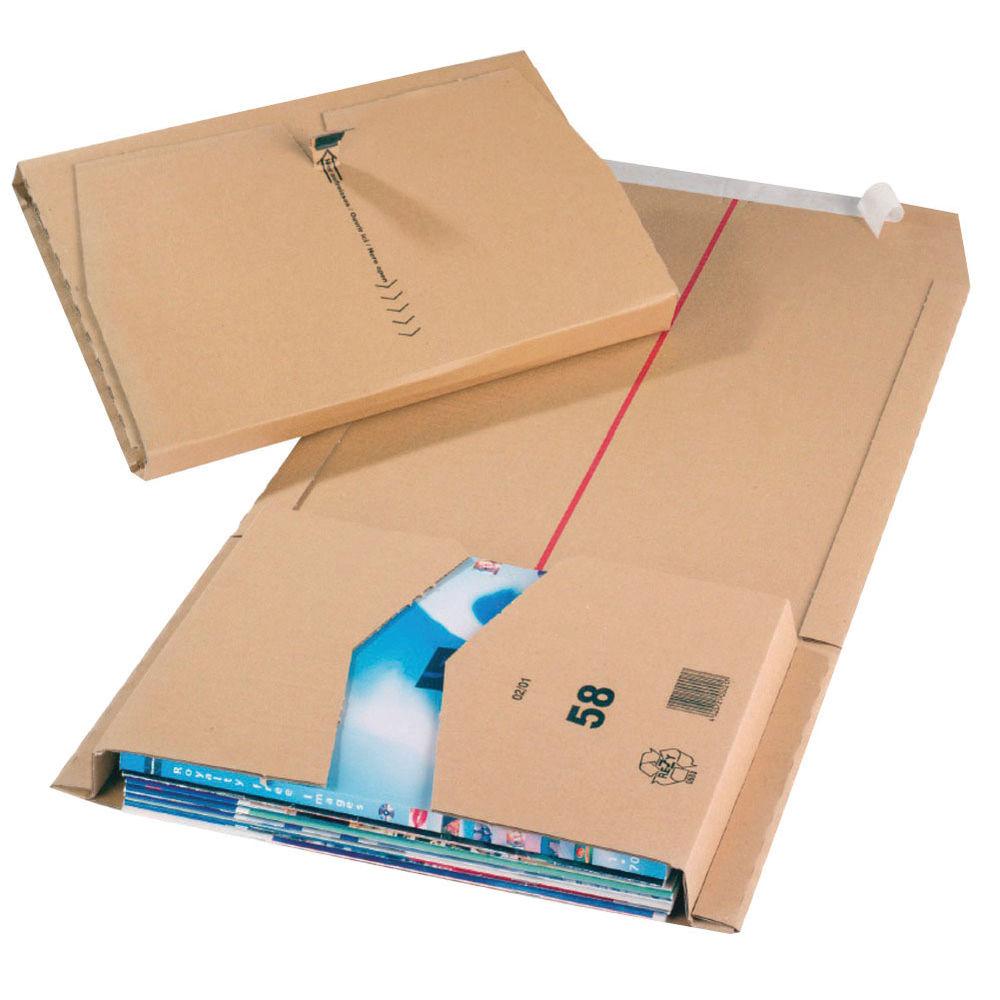 Cardboard Brown 455mm x 280mm x 70mm Postal Mailer Packs, Pack of 20 - JBOX-68