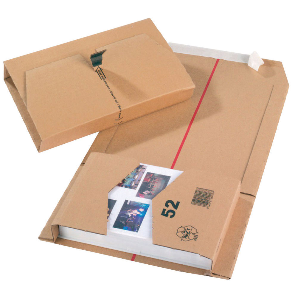 Brown Cardboard 251mm x 165mm x 60mm Mailing Boxes - Pack of 20 - JBOX -54