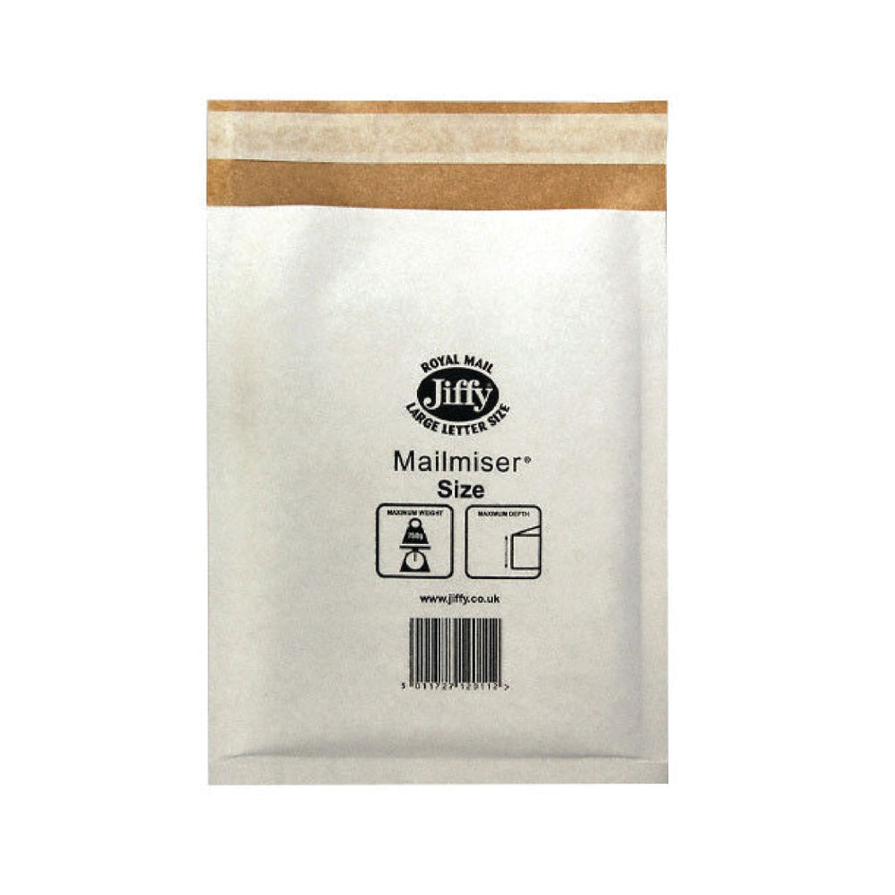 Jiffy Size 00, White Superlite Mailer - Pack of 100 - JMM-WH-00