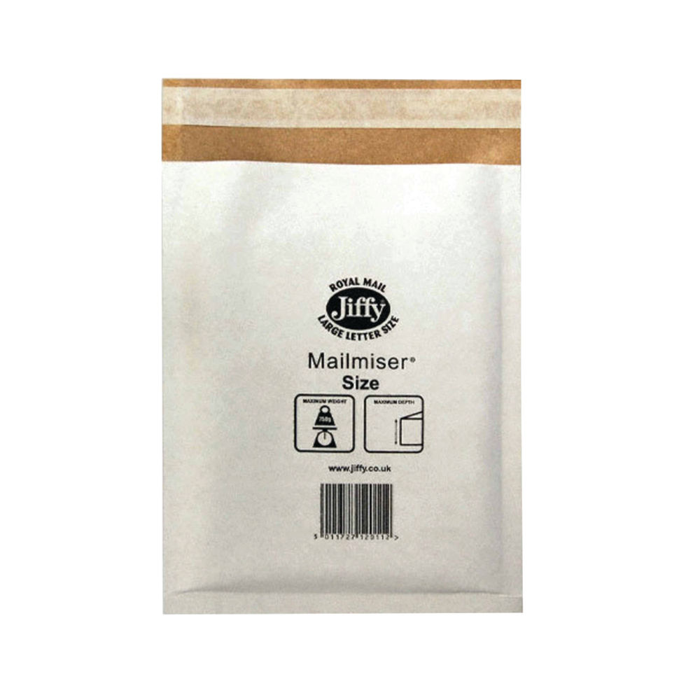 Jiffy Mailmiser Bags - Size 3 - 220 x 320mm - Pack of 50 -  JMM-WH-3