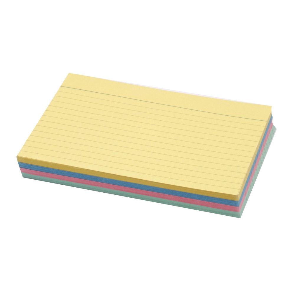 Concord Assorted 152 x 102mm Ruled Record Cards, Pack of 100 -16199