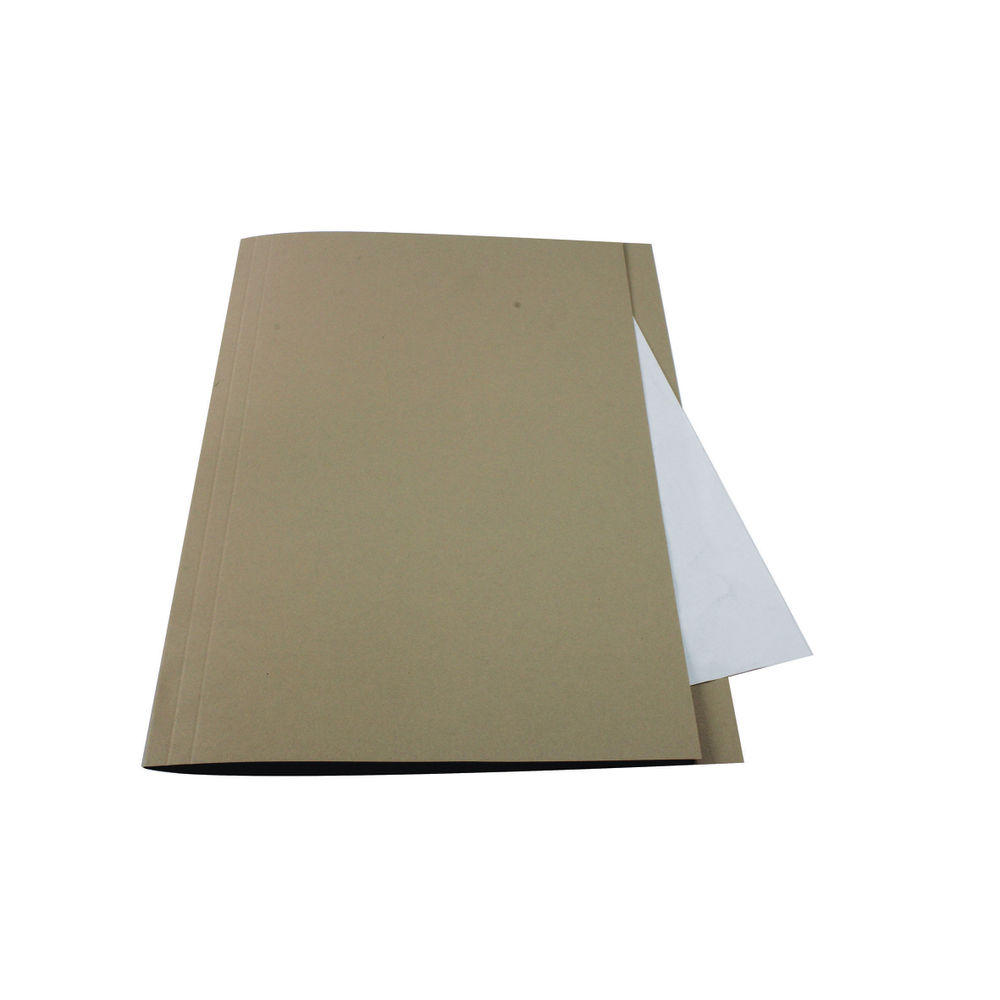 Guildhall Foolscap Buff Square Cut Folders 250gsm, Pack of 100 - FS250-BUFZ