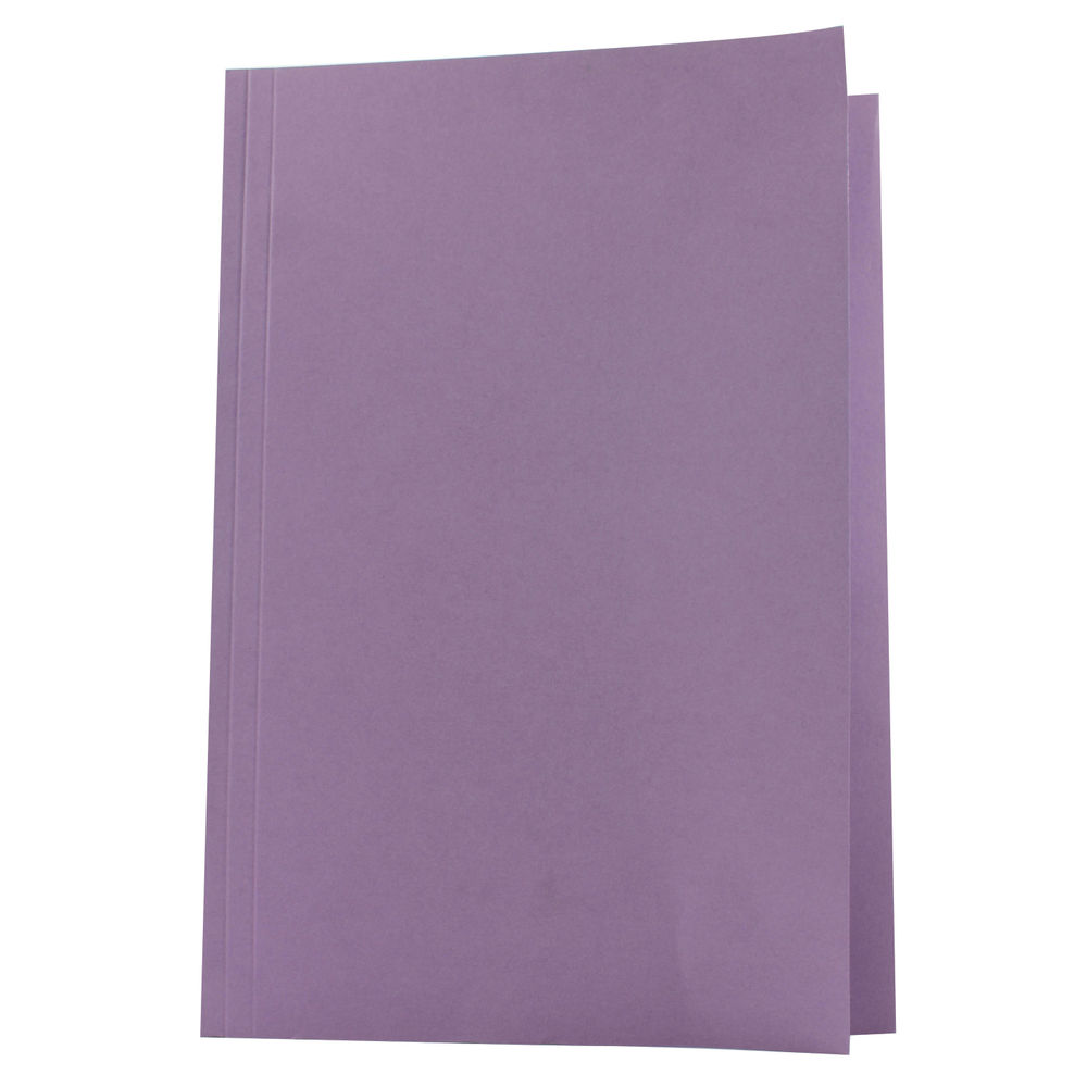 Guildhall Foolscap Mauve Square Cut Folder 270gsm, Pack of 100 - FS250-MVEZ
