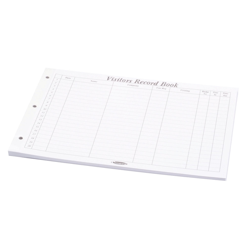 Concord A4 Landscape Visitor Book Refill Sheets - Pack of 50 - 324157