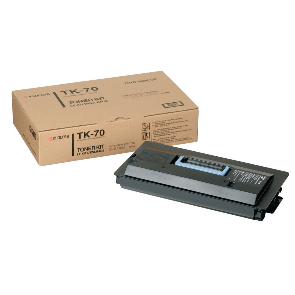 Kyocera TK-70 Black Toner Cartridge - High Capacity 370AC010
