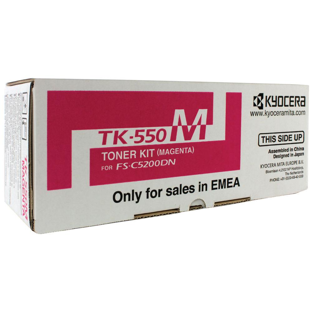 Kyocera TK550M Magenta Toner Cartridge - TK-550M