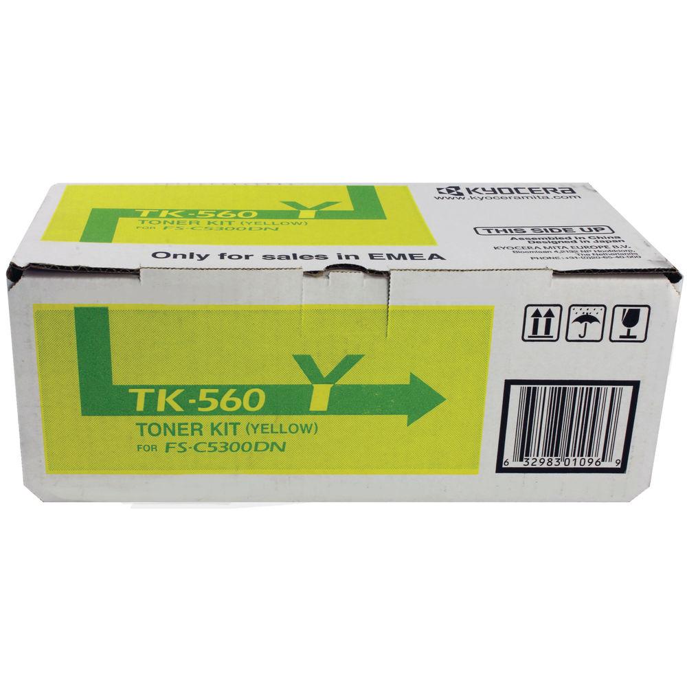 Kyocera TK-560Y Yellow Toner Cartridge - 1T02HNAEU0