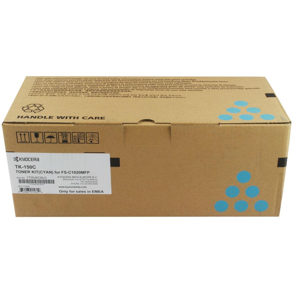 Kyocera Cyan TK-150C Toner Cartridge (6,000 Page Capacity)