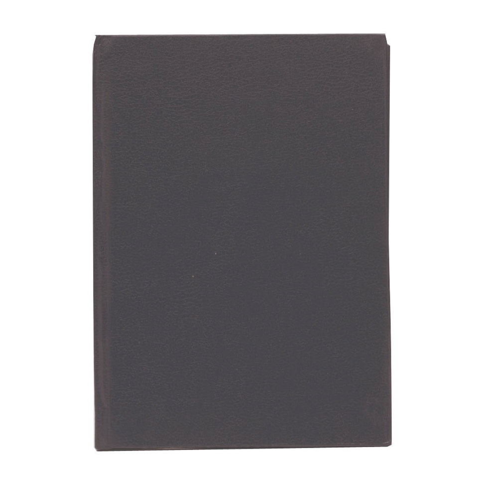 Q-Connect Black A6 Casebound Index Notebook - A00064