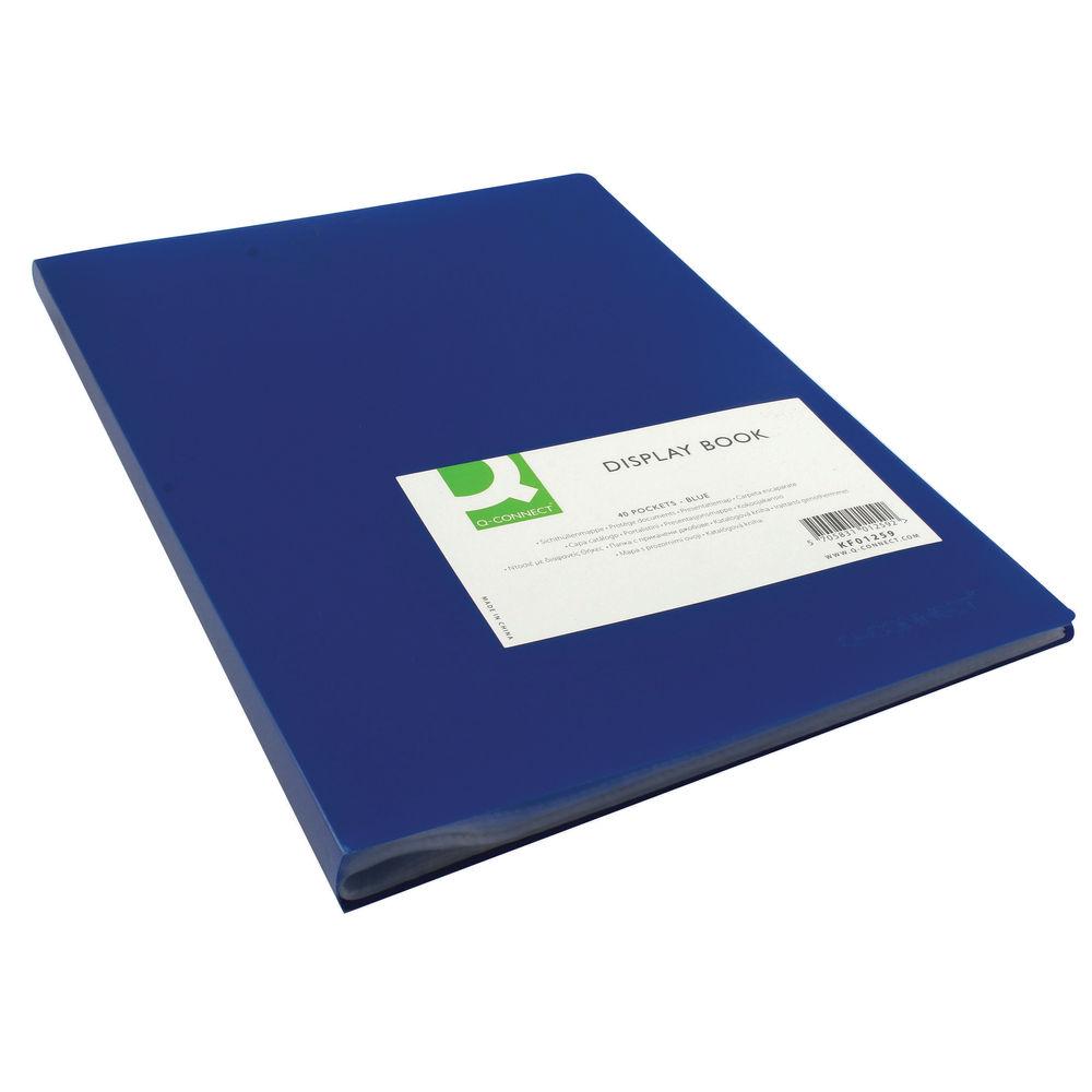 Q-Connect Polypropylene Display Book 40 Pocket Blue KF01259