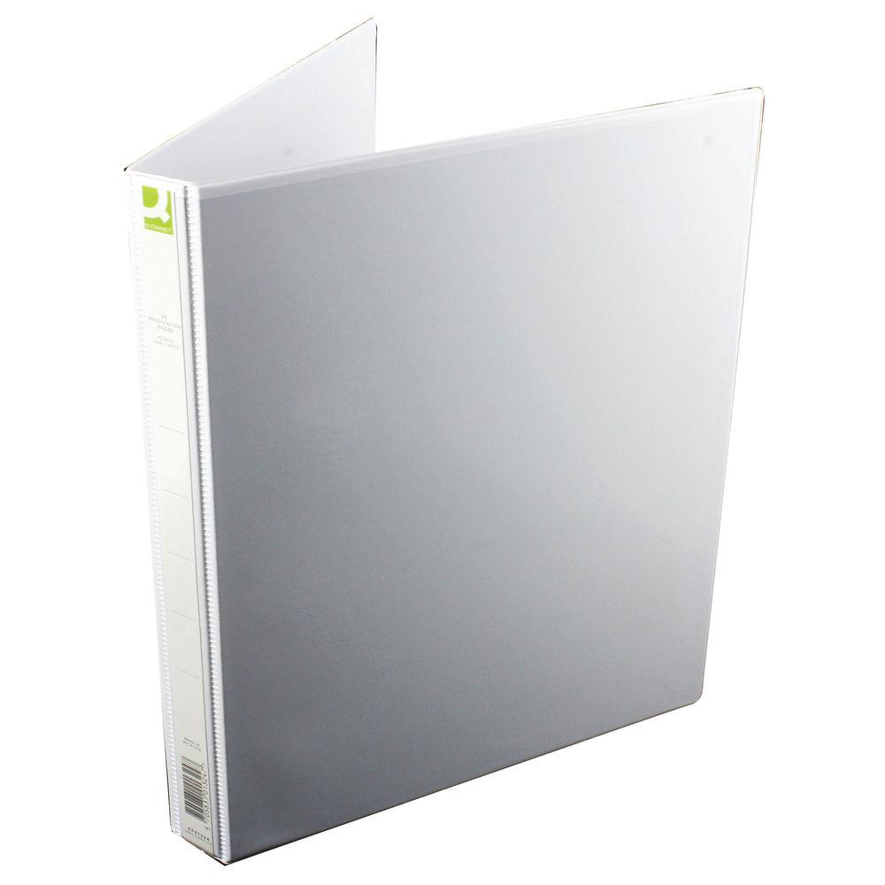 Q-Connect White A4 16mm 4 D-Ring Presentation Binder - KF01324Q