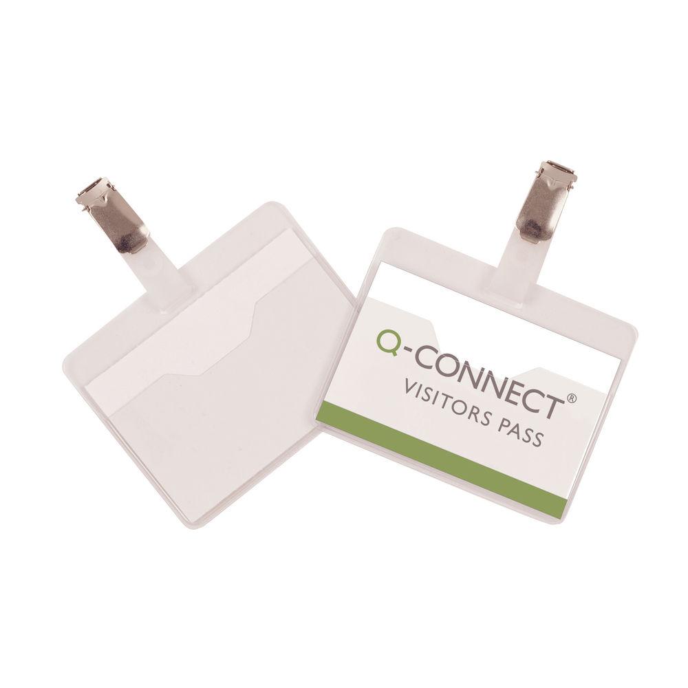 Q-Connect Landscape Visitors Badge, Pack of 25 - KF01560