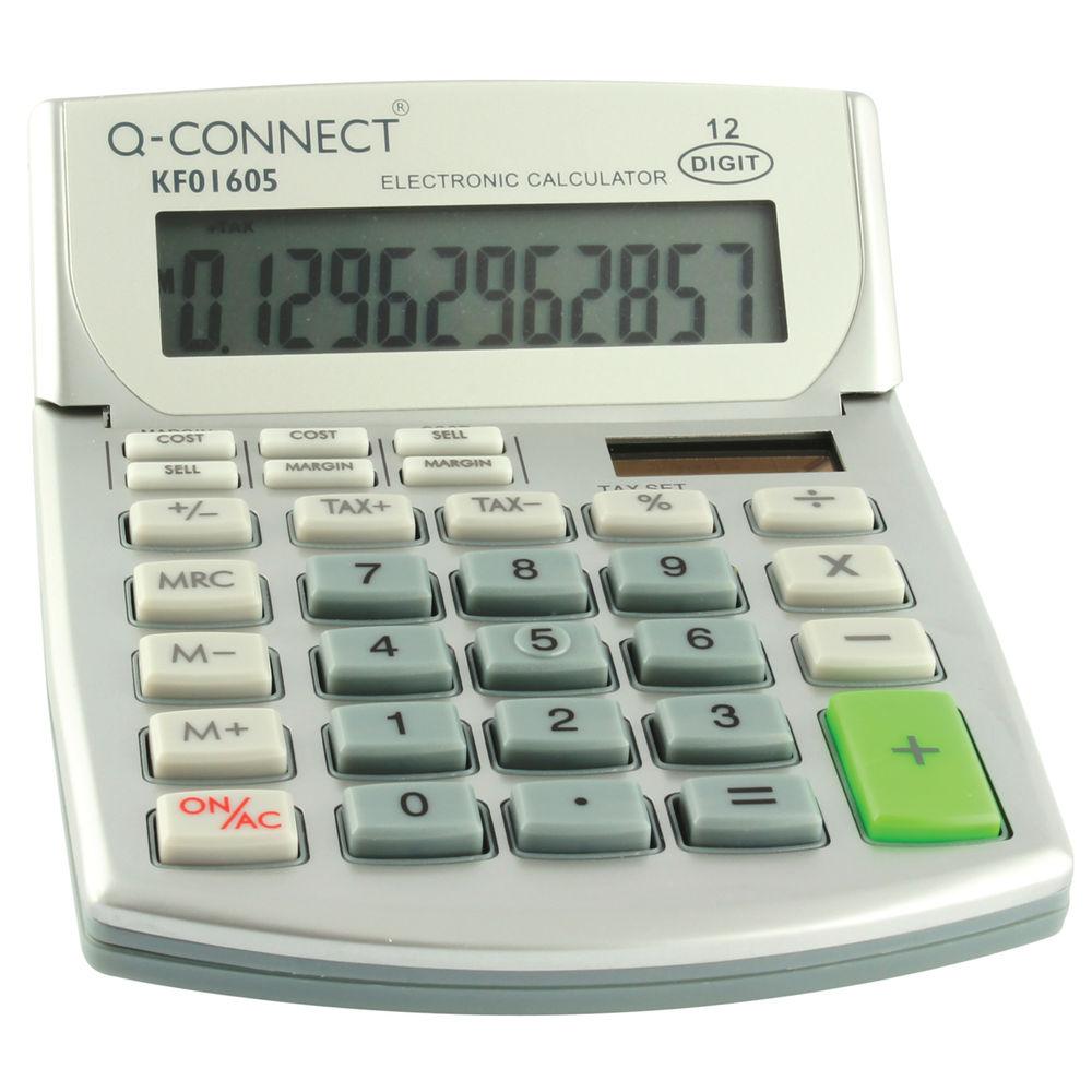 Q-Connect Semi Desktop Calculator - KF01605