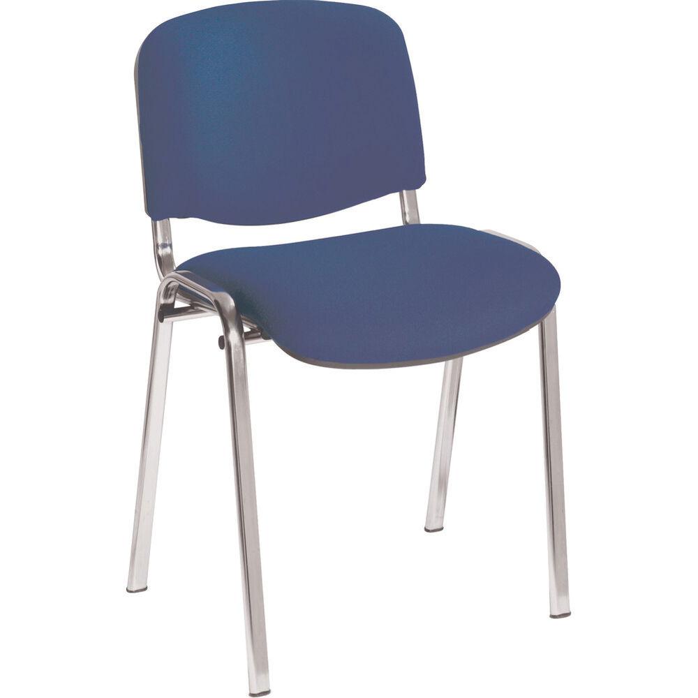 Jemini Ultra Blue/Chrome Multipurpose Stacking Chair