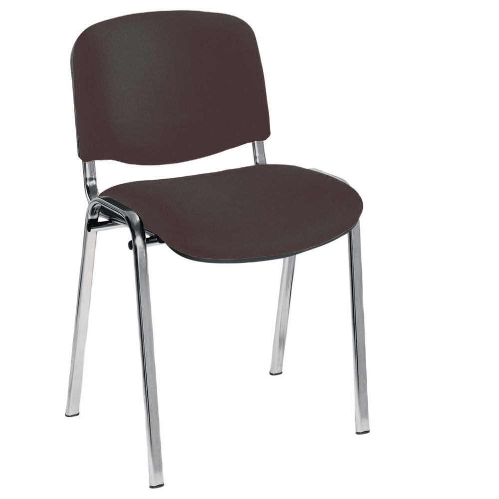 Jemini Ultra Charcoal/Chrome Multipurpose Stacking Chair