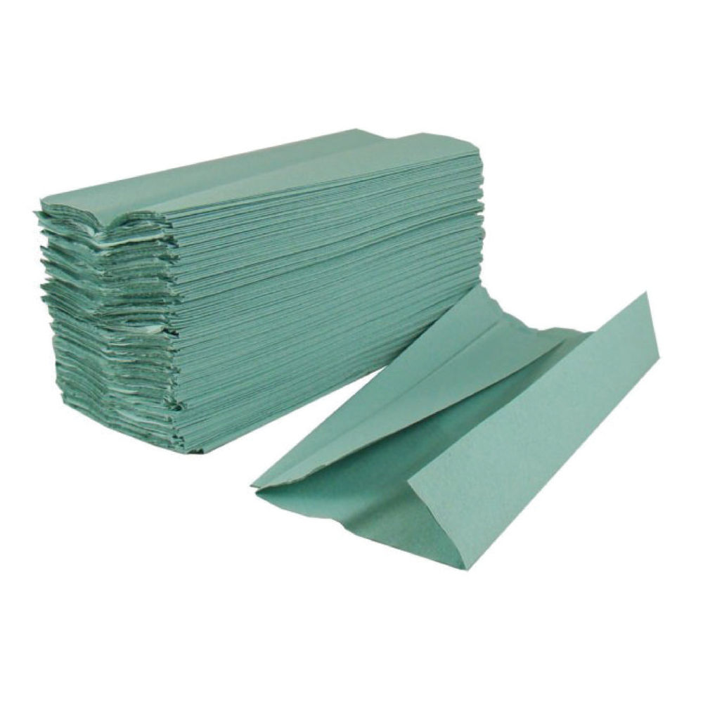 2Work 1-Ply Green C-Fold Paper Hand Towels, Pack of 2880 - HTG288