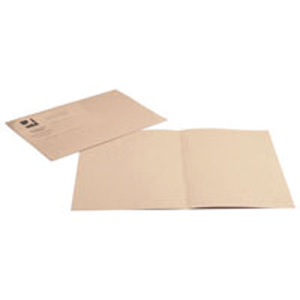 Q-Connect Buff Foolscap Square Cut Folders 180gsm, Pack of 100 - KF26032