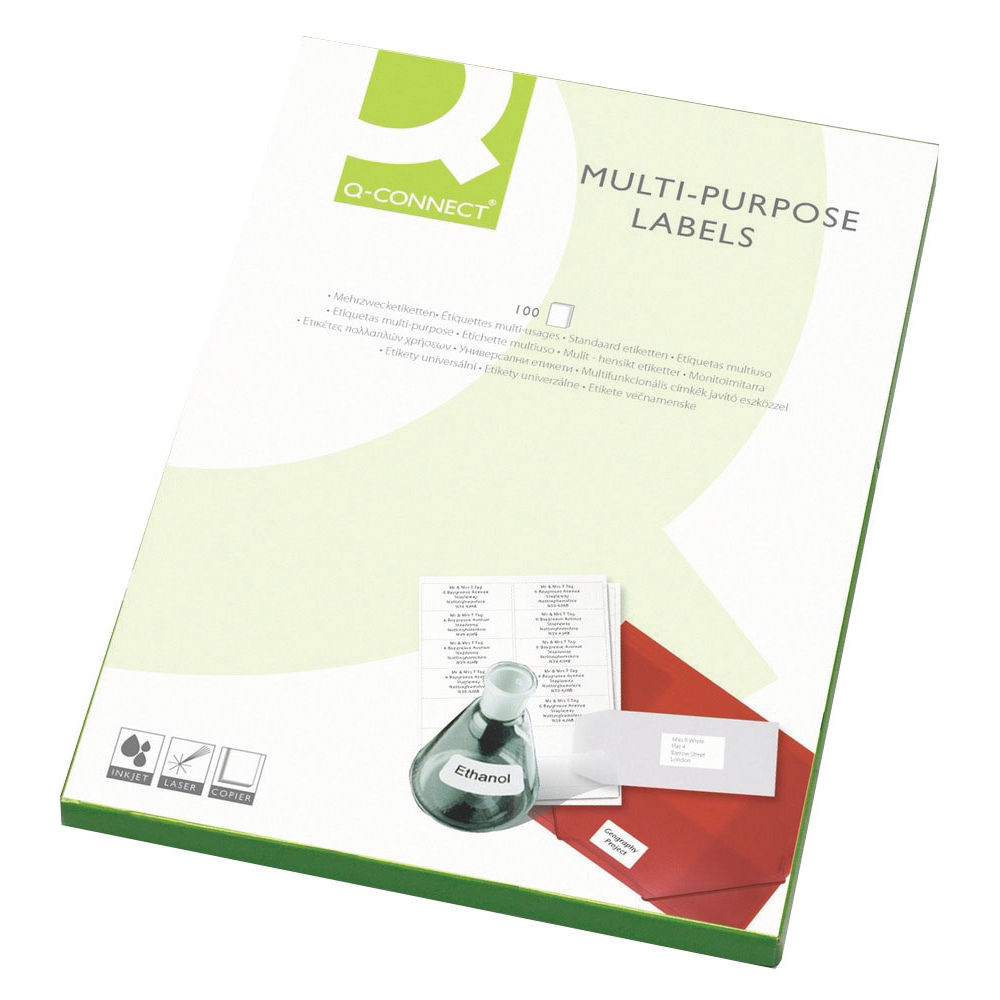 Q-Connect White Multipurpose Label 199.6 x 143.5mm KF26056
