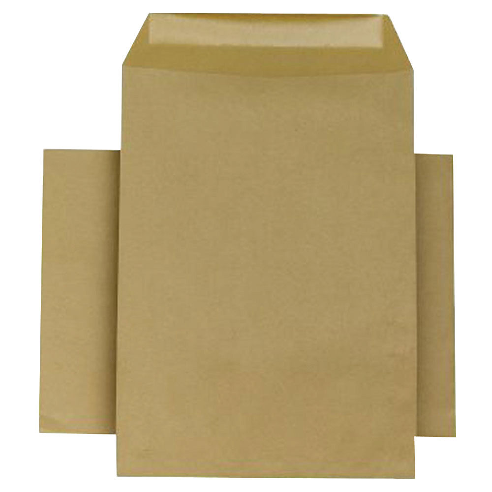 Q-Connect Manilla 254 x 178mm Self Seal Envelopes 90gsm, Pack of 250 - KF3445
